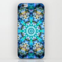 Into the Blue Kaleidoscope iPhone & iPod Skin