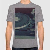 spin Mens Fitted Tee Athletic Grey SMALL