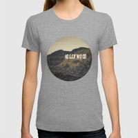 Old Hollywood Womens Fitted Tee Tri-Grey SMALL