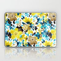 Happy Yellow Flower Collage Laptop & iPad Skin