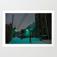 Green Alley Art Print