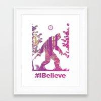 #Ibelieve Big Foot Framed Art Print