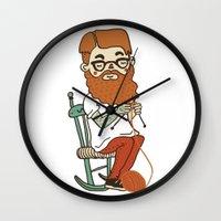 Wool beard Wall Clock