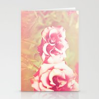 Roses Of The Setting Sun Stationery Cards