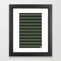Chevron #265C73 Framed Art Print