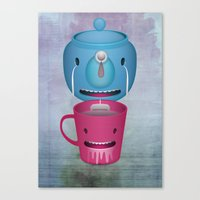 Tea Potty Canvas Print