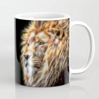 Painted Lion Head Mug