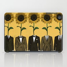 Sunflowers In Suits Print iPad Case