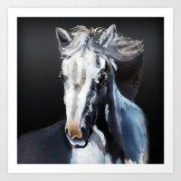 Horse Ghost Art Print