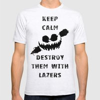 Keep Calm And Destroy Th… Mens Fitted Tee Ash Grey SMALL