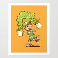 Green Tea Latteh Tarik Art Print