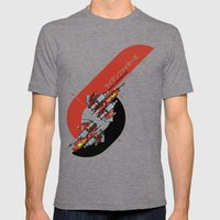 Raiden Fighters Mens Fitted Tee Tri-Grey SMALL