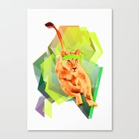 Lioness fitness Canvas Print