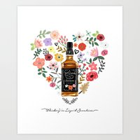 Whiskey Is Liquid Sunshine Art Print