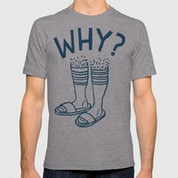 Soccer Socks Mens Fitted Tee Athletic Grey SMALL