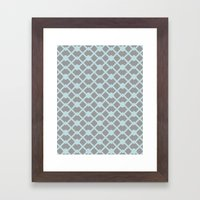 Lattice Framed Art Print