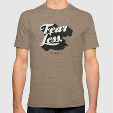 Fear Less Mens Fitted Tee Tri-Coffee SMALL