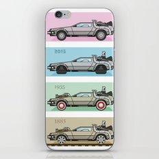 Back to the Future - Delorean x 4 iPhone & iPod Skin