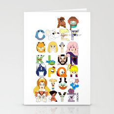 Child of the 80s Alphabet Stationery Cards