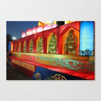 A Whole Lotta Buddhas Canvas Print