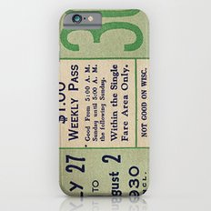 Vintage ticket iPhone 6 Slim Case