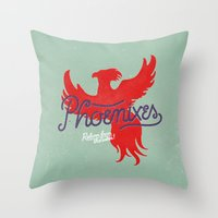 Phoenixes Throw Pillow