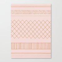 Delicate Tribal - In Apr… Canvas Print