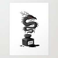 Ink Dragon Art Print
