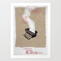 Screenwriter Art Print