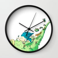 Starring Sonic and Miles 'Tails' Prower (Alt.) Wall Clock