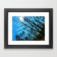 Sky Wrinkles Framed Art Print
