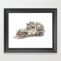 Dustbowl Truck Framed Art Print