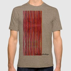 Warm Lines Mens Fitted Tee Tri-Coffee SMALL