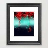 Aqua Red Framed Art Print