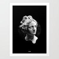 Sculpture Head Art Print