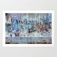 Graffiti Wall 2 Art Print