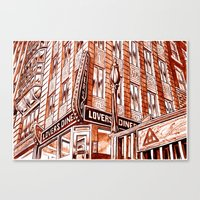 Lovers Diner Canvas Print