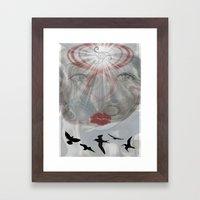 Face Light Framed Art Print