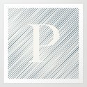 Striped P Art Print