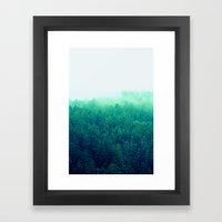 Green Fog Framed Art Print