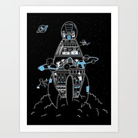 Interstellar Travels Art Print
