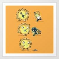 Sun Burn Art Print