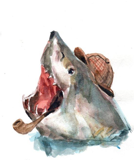 Sharklock Holmes Art Print