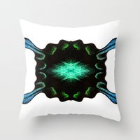Blue And Green Mirrored … Throw Pillow