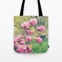 Pink Azalea Bushes Tote Bag