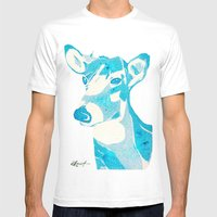 Deerest Blue Mens Fitted Tee White SMALL