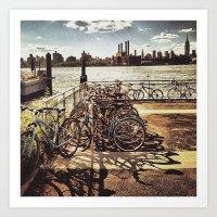 NYC Bikes Art Print