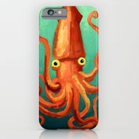 iPhone Cases featuring Giant Squid by Floating Bunnyhead