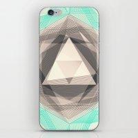 Jewel Lines 2 - Jade & C… iPhone & iPod Skin
