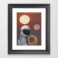 Twin Suns And Donuts Framed Art Print